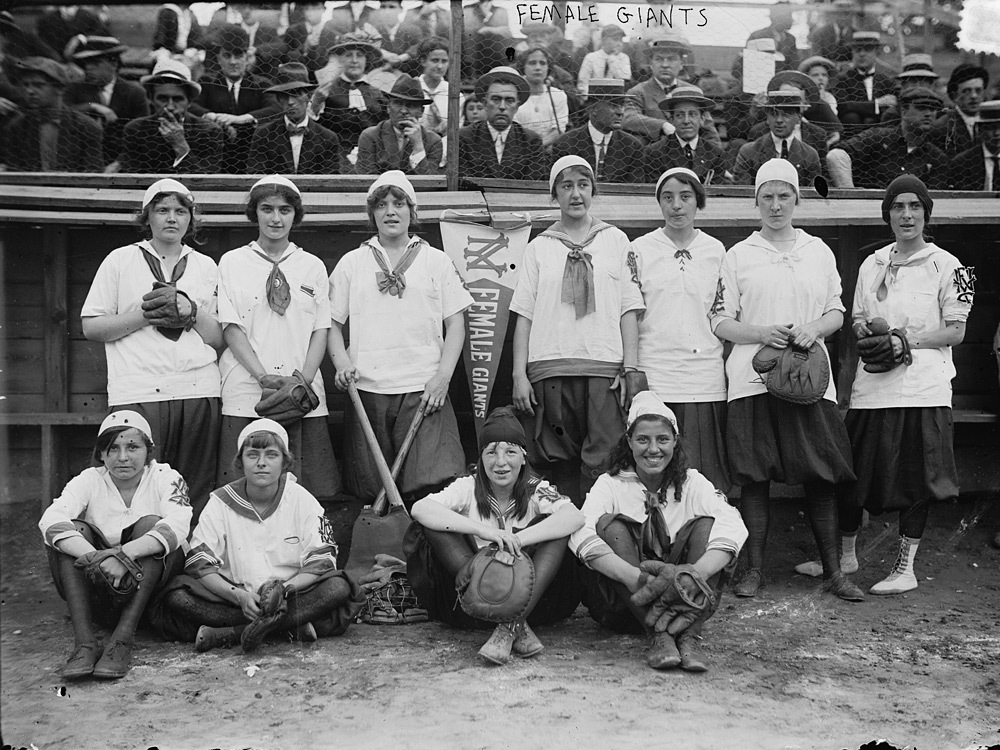 Las New York Female Giants, un equipo de Bloomer Girls fotografiado en 1913. Foto: Library of Congress